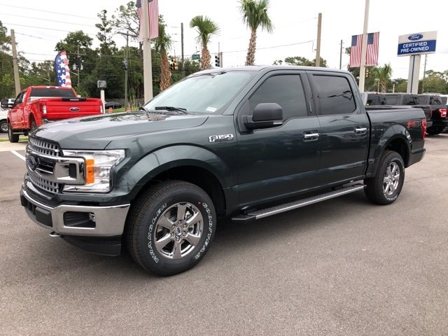 2018 Guard Metallic Ford F-150 XLT EcoBoost 2.7L V6 GTDi DOHC 24V Twin Turbocharged Engine 4X4 Truck Automatic