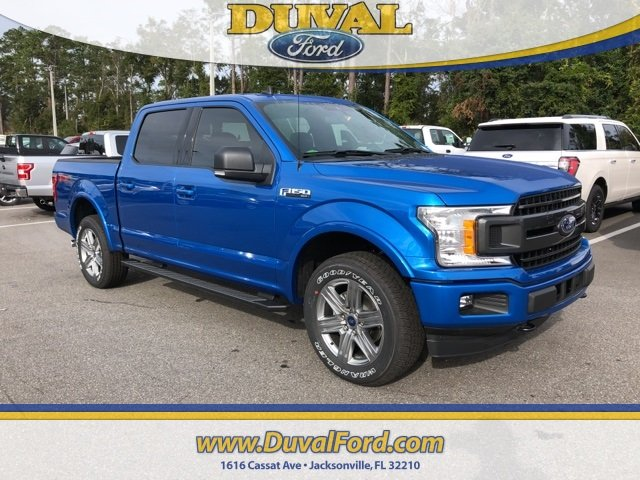 2019 Velocity Blue Metallic Ford F-150 XLT Automatic 4 Door EcoBoost 2.7L V6 GTDi DOHC 24V Twin Turbocharged Engine