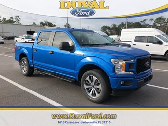 2019 Velocity Blue Metallic Ford F-150 XL 4 Door 4X4 Truck EcoBoost 2.7L V6 GTDi DOHC 24V Twin Turbocharged Engine Automatic