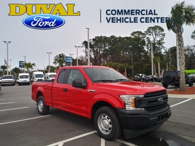 2018 Race Red Ford F-150 XL Truck EcoBoost 2.7L V6 GTDi DOHC 24V Twin Turbocharged Engine 4 Door