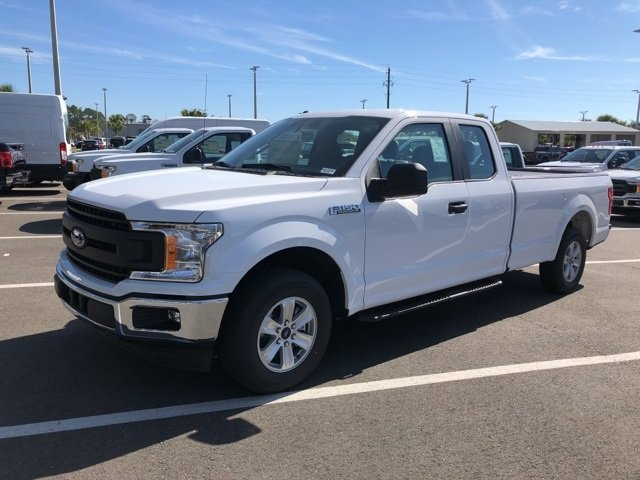 2019 Oxford White Ford F-150 XL EcoBoost 2.7L V6 GTDi DOHC 24V Twin Turbocharged Engine RWD Automatic 4 Door
