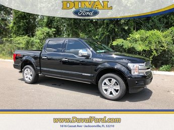 2018 Shadow Black Ford F-150 Platinum Truck 4 Door 4X4 Automatic