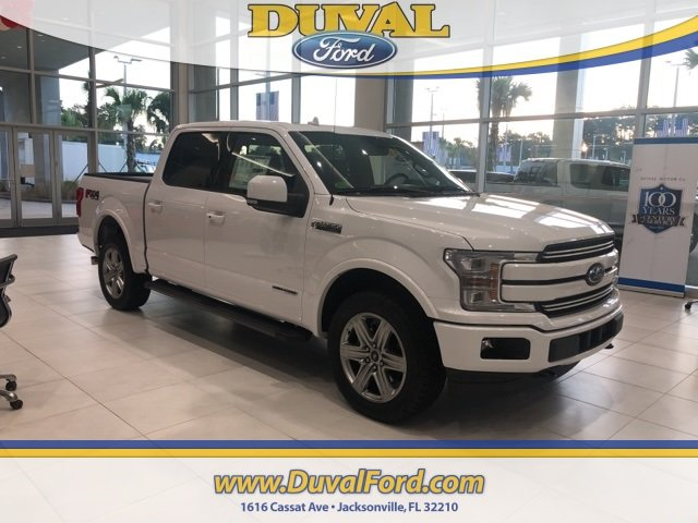 2018 Oxford White Ford F-150 Lariat Truck 4X4 Automatic 4 Door 3.0L Diesel Turbocharged Engine