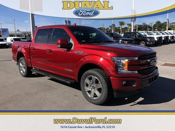 2018 Ruby Red Metallic Tinted Clearcoat Ford F-150 Lariat 4 Door Truck 4X4 3.0L Diesel Turbocharged Engine