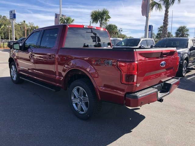 2018 Ruby Red Metallic Tinted Clearcoat Ford F-150 Lariat 4 Door Automatic 3.0L Diesel Turbocharged Engine Truck 4X4