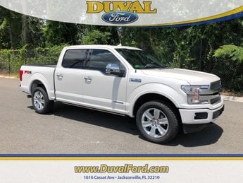 2018 White Platinum Metallic Tri-Coat Ford F-150 Platinum Truck 3.0L Diesel Turbocharged Engine 4X4