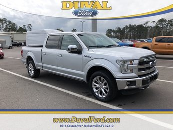 2015 Ingot Silver Metallic Ford F-150 Lariat 4X4 EcoBoost 3.5L V6 GTDi DOHC 24V Twin Turbocharged Engine 4 Door