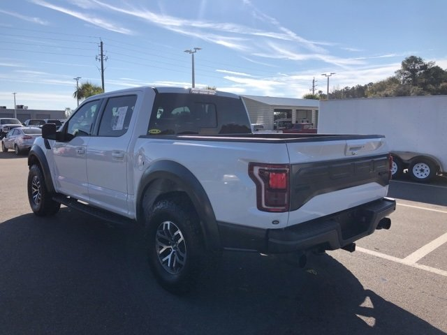 2018 Oxford White Ford F-150 Raptor 4 Door Automatic EcoBoost 3.5L V6 GTDi DOHC 24V Twin Turbocharged Engine