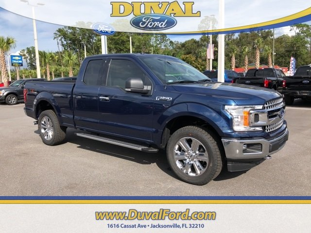 2018 Blue Ford F-150 XLT Automatic 4X4 4 Door 5.0L V8 Ti-VCT Engine Truck