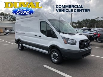 2018 Oxford White Ford Transit-250 3.7L V6 Ti-VCT 24V Engine 3 Door RWD Automatic Van