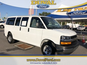 2018 Summit White Chevy Express 3500 LT Automatic Van 3 Door 4.3L V6 Engine