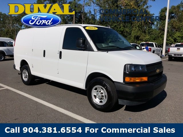 2018 Summit White Chevy Express 2500 Work Van 4.3L V6 Engine 3 Door Van