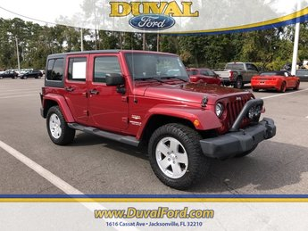 2011 Deep Cherry Red Crystal Pearl Coat Jeep Wrangler Unlimited Sahara 3.8L V6 SMPI Engine 4 Door SUV Automatic