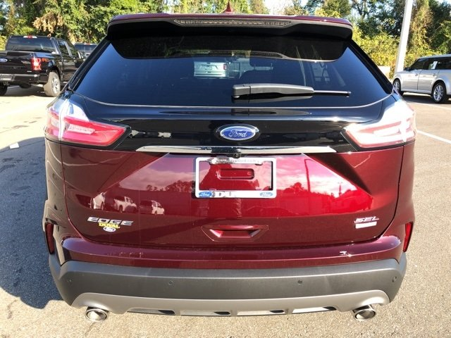 2019 Burgundy Velvet Metallic Tinted Clearcoat Ford Edge SEL FWD Automatic SUV