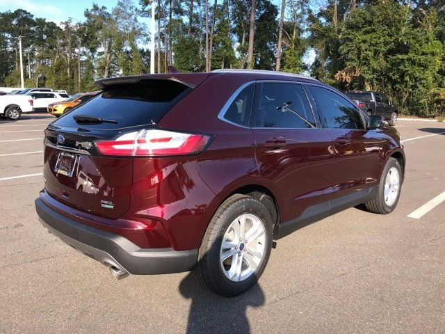 2019 Burgundy Velvet Metallic Tinted Clearcoat Ford Edge SEL Automatic SUV 4 Door FWD
