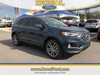 2019 Baltic Sea Green Metallic Ford Edge Titanium 4 Door FWD 2.0L Engine Automatic