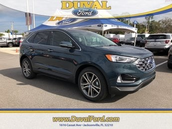 2019 Baltic Sea Green Metallic Ford Edge Titanium FWD SUV 2.0L Engine