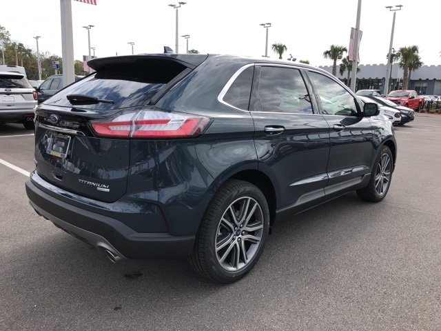 2019 Baltic Sea Green Metallic Ford Edge Titanium Automatic SUV 4 Door FWD