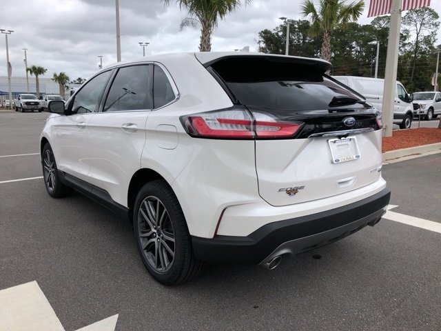 2019 White Platinum Clearcoat Metallic Ford Edge Titanium SUV 4 Door Automatic 2.0L Engine
