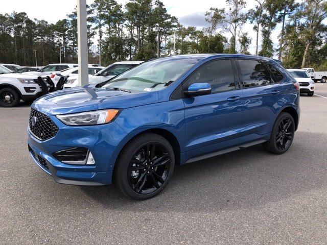 2019 Ford Performance Blue Metallic Ford Edge ST SUV EcoBoost 2.7L V6 GTDi DOHC 24V Twin Turbocharged Engine Automatic AWD