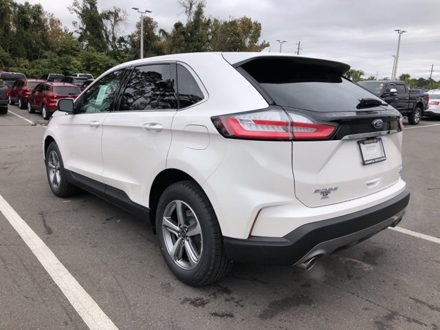 2019 White Platinum Clearcoat Metallic Ford Edge SEL 4 Door SUV AWD Automatic