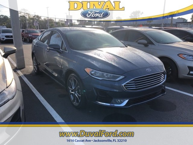 2019 Blue Metallic Ford Fusion SEL 4 Door EcoBoost 1.5L I4 GTDi DOHC Turbocharged VCT Engine Sedan