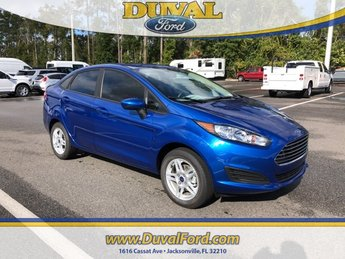 2019 Lightning Blue Metallic Ford Fiesta SE FWD Sedan 4 Door 1.6L I4 Ti-VCT Engine Automatic