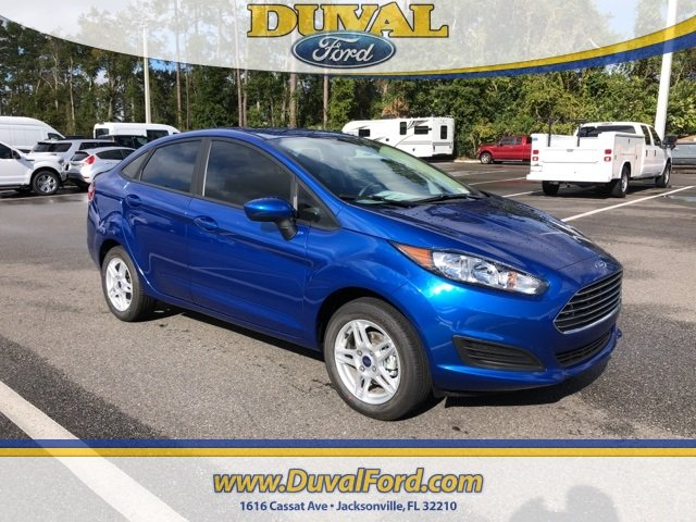 2019 Lightning Blue Metallic Ford Fiesta SE Sedan Automatic 4 Door 1.6L I4 Ti-VCT Engine