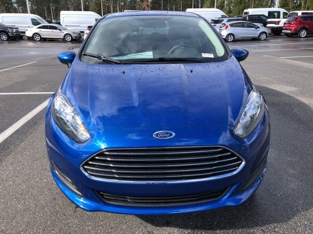 2019 Lightning Blue Metallic Ford Fiesta SE FWD Sedan 4 Door Automatic 1.6L I4 Ti-VCT Engine