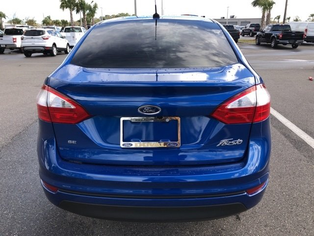 2019 Lightning Blue Metallic Ford Fiesta SE Sedan 1.6L I4 Ti-VCT Engine 4 Door FWD Automatic
