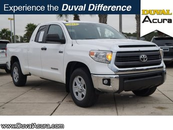 2015 Super White Toyota Tundra SR Truck i-Force 5.7L V8 DOHC 32V LEV Engine Automatic RWD 4 Door