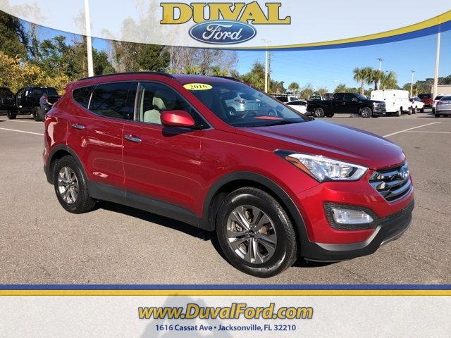 2016 Serrano Red Hyundai Santa Fe Sport 2.4 Base SUV AWD 2.4L I4 DGI DOHC 16V Engine 4 Door
