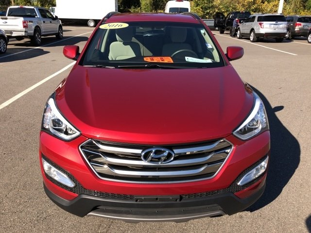 2016 Serrano Red Hyundai Santa Fe Sport 2.4 Base 4 Door AWD SUV