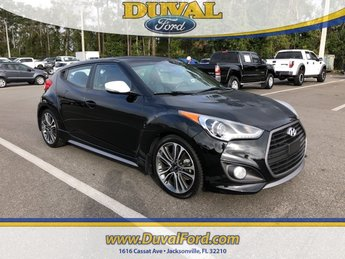 2016 Ultra Black Hyundai Veloster Turbo Manual Hatchback I4 Engine 3 Door FWD
