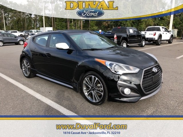 2016 Ultra Black Hyundai Veloster Turbo I4 Engine Hatchback FWD