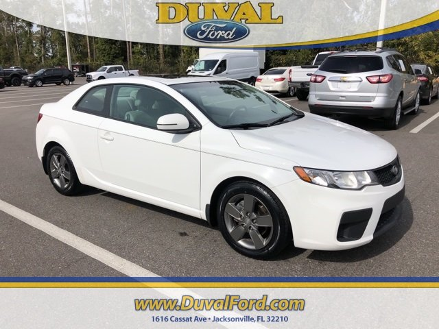 2012 Clear White Kia Forte Koup EX FWD 2 Door Coupe Automatic