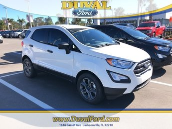 2018 Diamond White Ford EcoSport S EcoBoost 1.0L I3 GTDi DOHC Turbocharged VCT Engine SUV Automatic