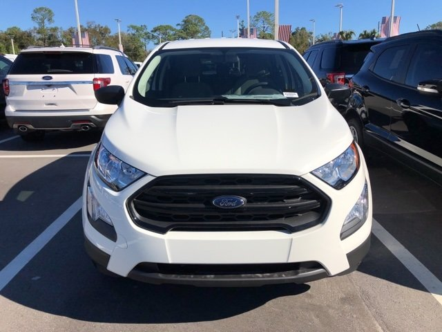 2018 Ford EcoSport S Automatic 4 Door SUV EcoBoost 1.0L I3 GTDi DOHC Turbocharged VCT Engine FWD