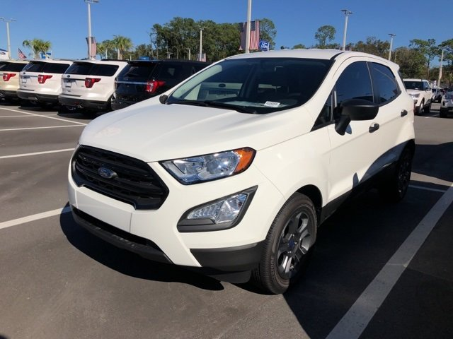 2018 Ford EcoSport S EcoBoost 1.0L I3 GTDi DOHC Turbocharged VCT Engine 4 Door FWD SUV