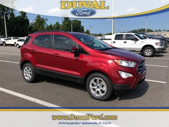 2018 Ruby Red Metallic Tinted Clearcoat Ford EcoSport SE FWD SUV Automatic