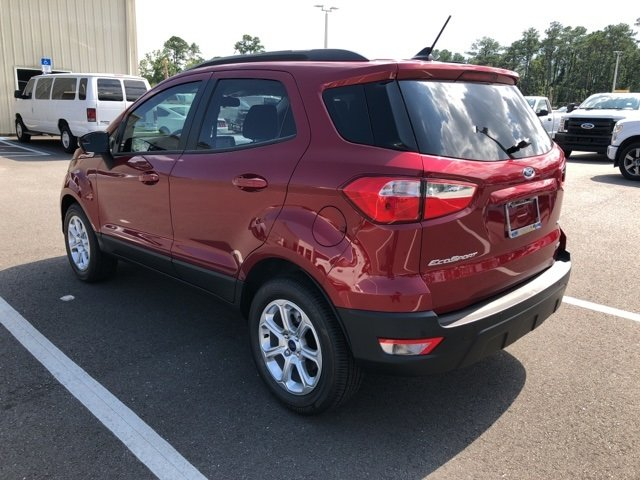 2018 Ruby Red Metallic Tinted Clearcoat Ford EcoSport SE Automatic SUV FWD EcoBoost 1.0L I3 GTDi DOHC Turbocharged VCT Engine 4 Door
