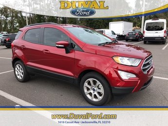 2018 Ruby Red Metallic Tinted Clearcoat Ford EcoSport SE SUV EcoBoost 1.0L I3 GTDi DOHC Turbocharged VCT Engine FWD