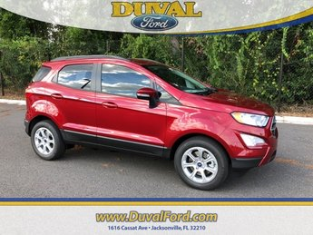 2018 Ruby Red Metallic Tinted Clearcoat Ford EcoSport SE 4 Door FWD EcoBoost 1.0L I3 GTDi DOHC Turbocharged VCT Engine Automatic