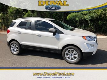 2018 White Platinum Clearcoat Metallic Ford EcoSport SE Automatic SUV FWD 4 Door EcoBoost 1.0L I3 GTDi DOHC Turbocharged VCT Engine