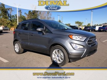 2019 Smoke Metallic Ford EcoSport SE SUV EcoBoost 1.0L I3 GTDi DOHC Turbocharged VCT Engine Automatic