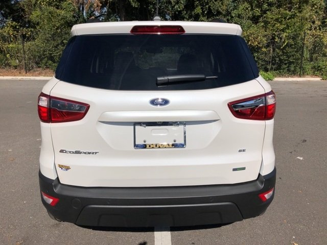 2019 White Platinum Clearcoat Metallic Ford EcoSport SE FWD SUV EcoBoost 1.0L I3 GTDi DOHC Turbocharged VCT Engine