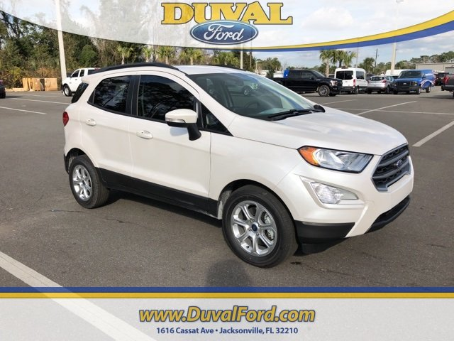 2019 White Platinum Clearcoat Metallic Ford EcoSport SE FWD SUV Automatic 4 Door EcoBoost 1.0L I3 GTDi DOHC Turbocharged VCT Engine