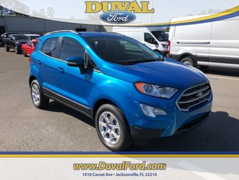2019 Blue Candy Metallic Tinted Clearcoat Ford EcoSport SE Automatic SUV EcoBoost 1.0L I3 GTDi DOHC Turbocharged VCT Engine FWD 4 Door