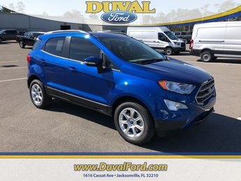 2019 Lightning Blue Metallic Ford EcoSport SE FWD SUV 4 Door