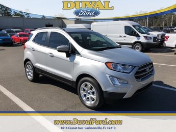 2019 Moondust Silver Metallic Ford EcoSport SE FWD Automatic EcoBoost 1.0L I3 GTDi DOHC Turbocharged VCT Engine 4 Door